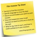 Film Investor Tip Sheet