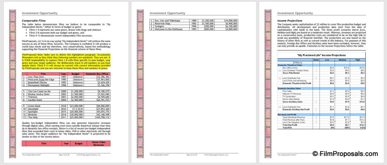 Film Business Plan Template Download