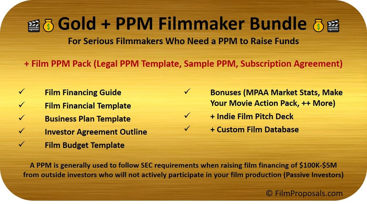 Film Financing Financing Bundle PPM