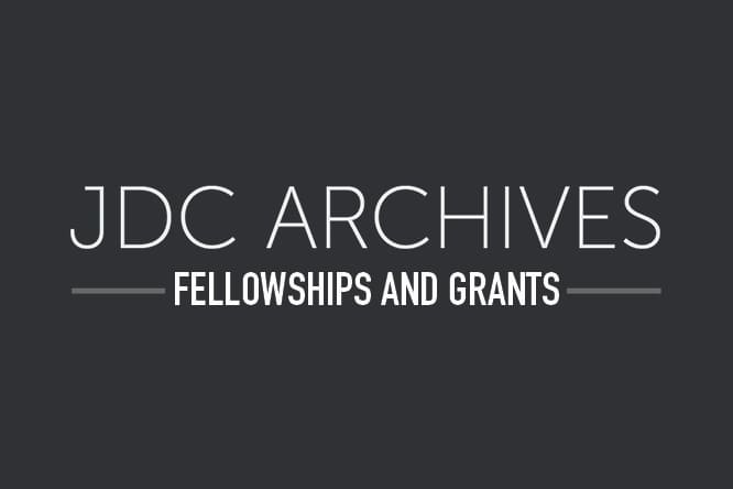 JDC Archives Documentary Film Grant