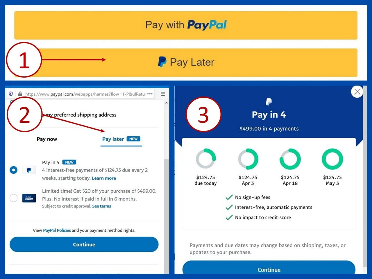 Paypal Pay in 4 Installments