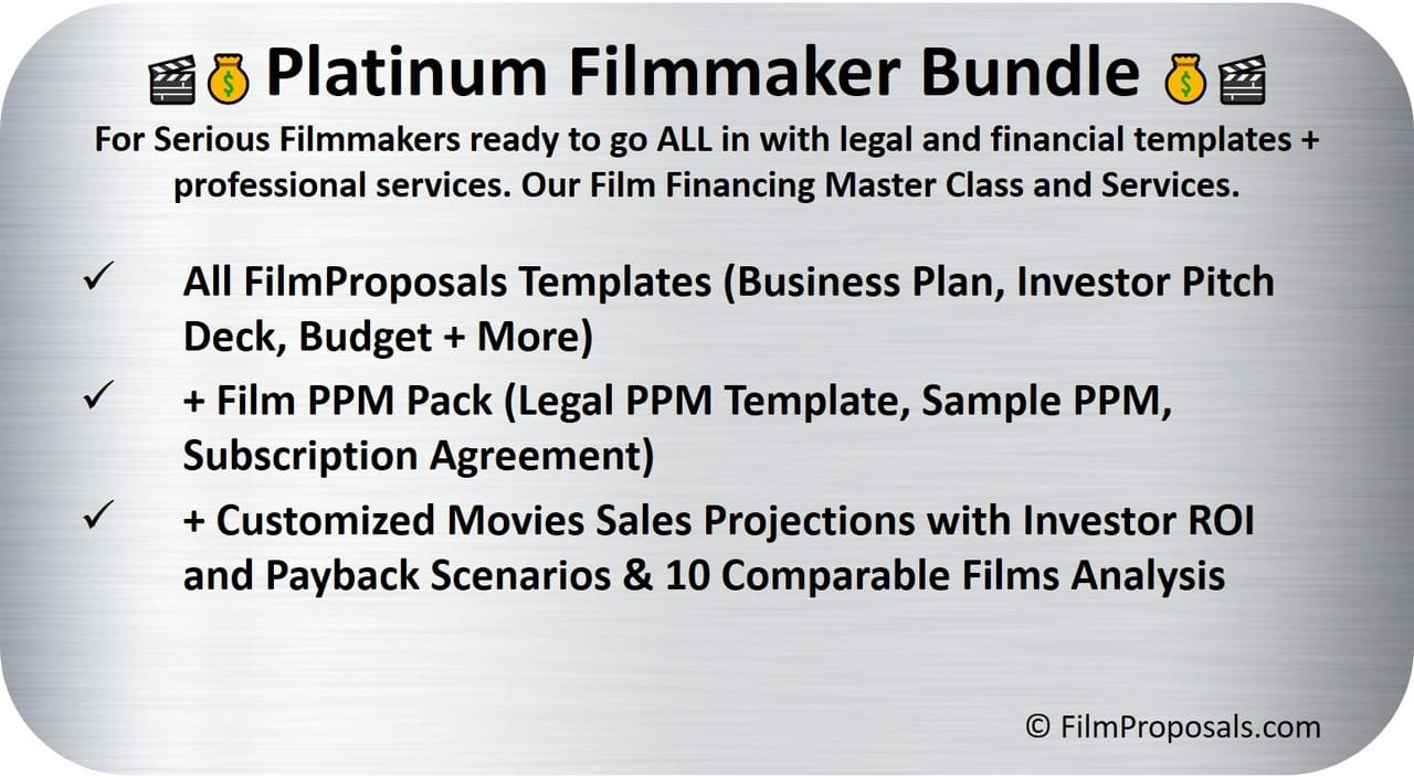 Platinum Film Financing Financing Bundle
