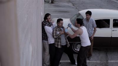 Santiago (Jesus Guevara) Miguel (Dan Lopecci) Ben (Marcos Ochoa) at the torture